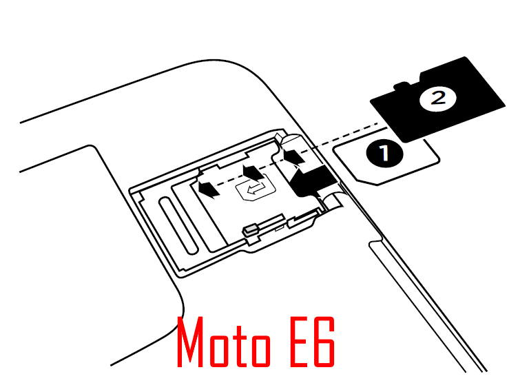 Add, remove, and manage SIM cards on Moto E6