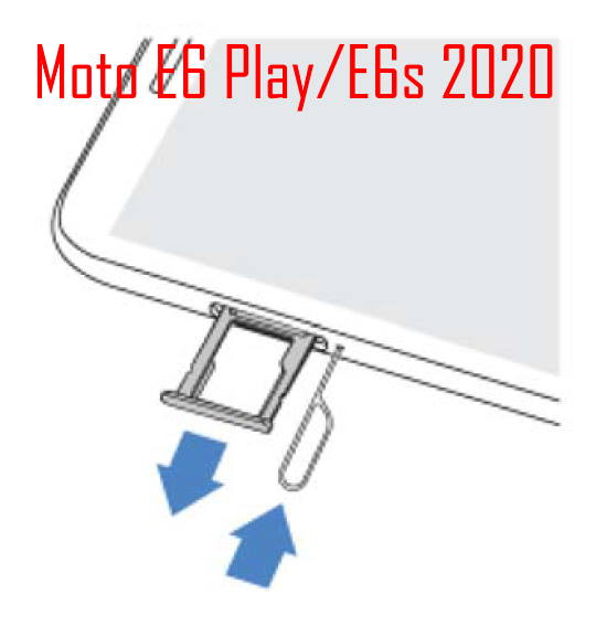 Add, remove, and manage SIM cards on Moto E6 Play and Moto E6s 2020