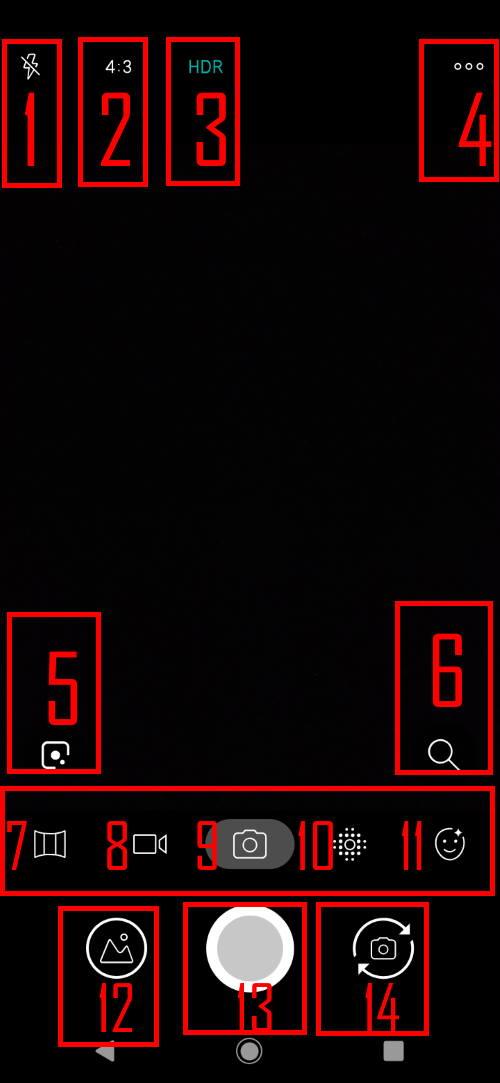 Moto E6 camera app interface